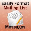 Format Text Email Messages Here